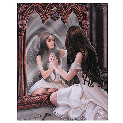 Fantasy Gothic Art Canvas Wall Plaque~Magic Mirror~by Anne Stokes~54~uk