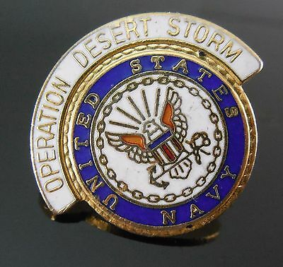United States Navy Operation Desert Storm Enamel Lapel or Tie Pin