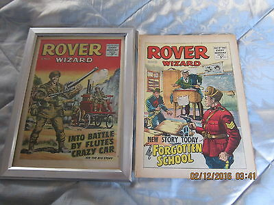Rover And Wizard Comic- Complete - Used But Still Good.8Th. July/1967