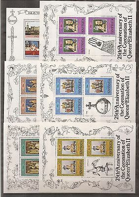 The 25th Anniversary of the Coronation of Queen Elizabeth - 1953/1978 -63 sheets
