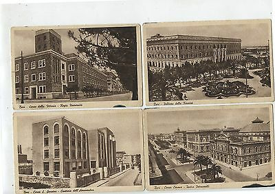 9 Old Vintage Postcards 1943 Bari Italy Canadian Army Overseas