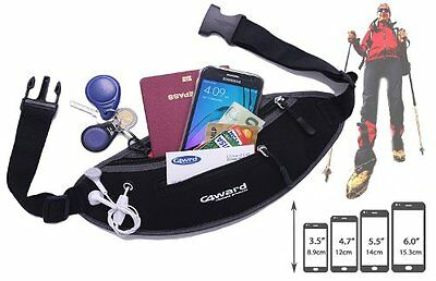Running Belt Water Resistant Travel Jogging Cycling Gym Money Cards Phone Keys