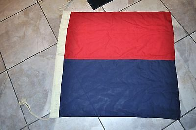 WW2 Naval battle ship Signal flag altering coarse to starboard