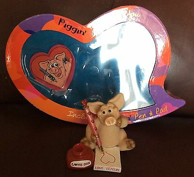 """Piggin Ornament """"Inkin of you"""" club joining price 2005 with original box"""