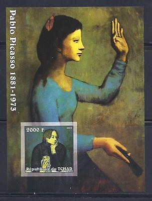 D4834 Mint NH 2002 2000F Imperf. S/S Museum Painting by Pablo Picasso SCV $10