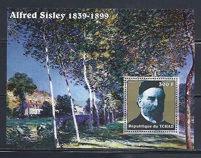 D4839 Mint NH 2002 300F S/S Museum Painting by Alfred Sisley SCV $10