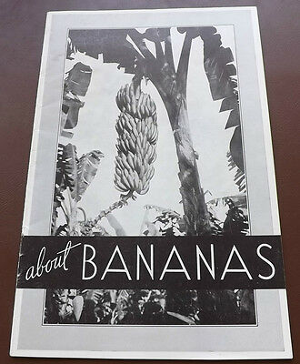 VINTAGE BOOKLET ABOUT BANANAS VERY INTERESTING HISTORY Fruit Nutrition Food 40s?