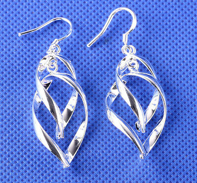 NEW 925 sterling Solid silver delicate earrings Fashion Jewelry