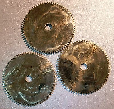 Clock Parts  Large Polished Brass Gears Cogs  Steampunk  Model Makers - Job Lot