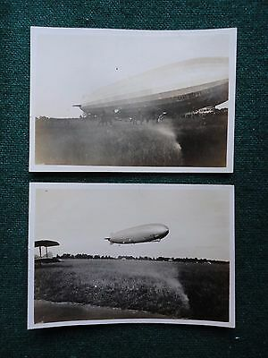 Antique Photos of Graf Zeppelin Air Ship in Flight Prussian Imperial Germany