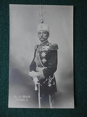 Antique Postcard King Peter I of Serbia in Military Uniform