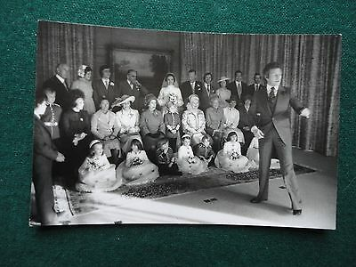 Antique Unpublished Private Photo Queen Elizabeth II at Lord Lichfield Wedding