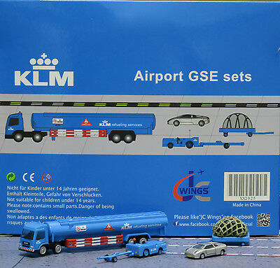 JC Wings 1/200 KLM Airport GSE Set 5 XX2025 miniature vehicles