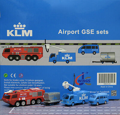 JC Wings 1/200 KLM Airport GSE Set 6 XX2026 miniature vehicles
