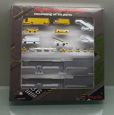 Witty Wings 1/400 Airport Service Vehicles 20 pieces GSE miniature set