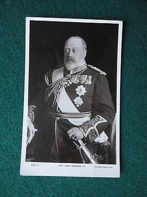 Antique Photographic Postcard King Edward VII in Military Uniform