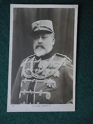 Antique Photographic Postcard King Edward VII in Hussar Military Uniform