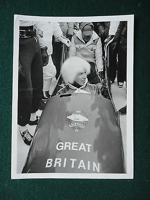 Antique Press Photo Princess Anne at Bob Run Olympics Sarajevo 1984
