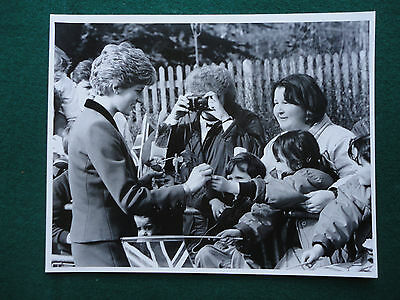Antique Press Photo of a young Princess Diana Greeting Members of the Public