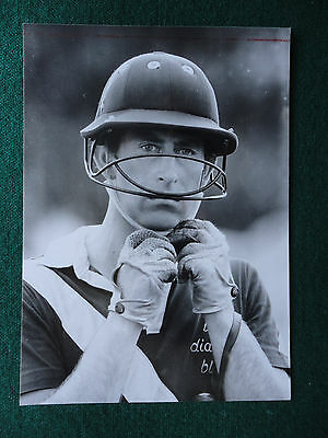 Antique Press Photo of a young Prince Charles wearing a Polo hat