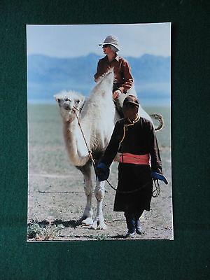 Antique Press Photo of Princess Anne Princess Royal on a Camel in Mongolia 1993