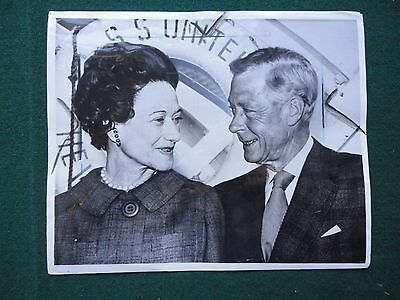Antique Press Photo Duke & Duchess of Windsor Silver Wedding Party United States