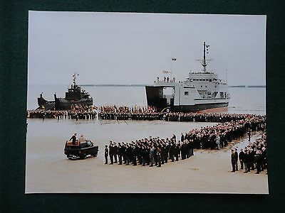 Antique Press Photo of a young Queen Elizabeth II & Prince Philip Veterans D-Day