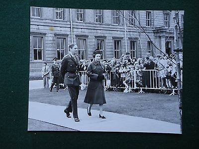 Antique Press Photo of Queen Elizabeth II on a Royal Walkabout