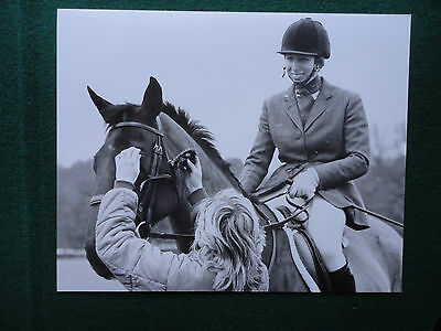 Antique Press Photo of a young Princess Anne Princess Royal on a Horse