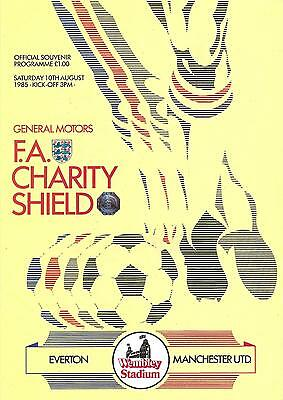 Everton v Manchester United - Charity Shield - 1985