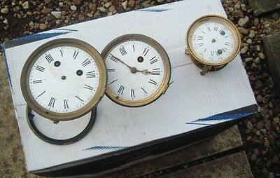 3 clock makers french clock movements for spare parts only steampunk artist