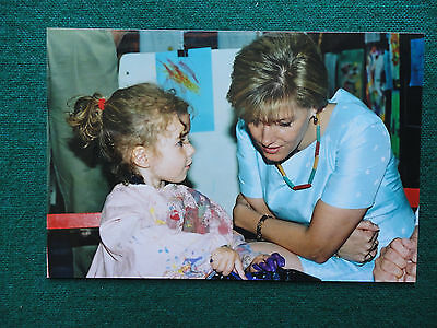 Antique Unpublished Private Photo Sophie Wessex Chatting with a Young Girl