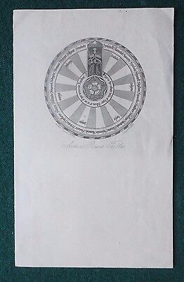 Antique Victorian Stationery of King Arthur's Round Table 1851 by Rock & Co