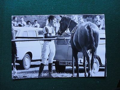 Fine Antique Press Photo of Prince Charles Feeding his Polo Horse