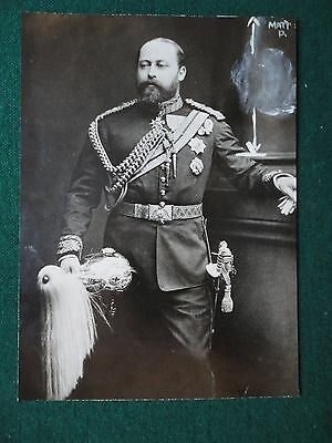 Fine Antique Photo by Bassano of King Edward VII Dressed in Military Clothes