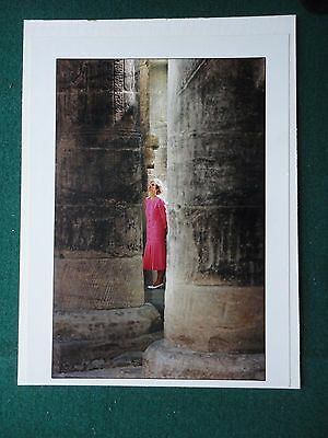 Fine Large Antique Press Photo of Princess Diana in Egypt Wearing a Pink Dress