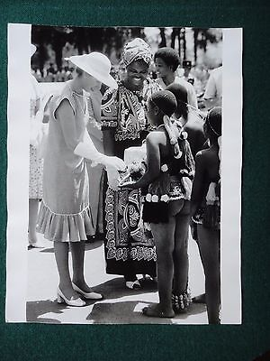 Fine Antique Press Photo of a Young Princess Anne in Swaziland Save the Children