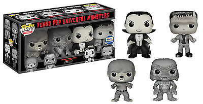 Funko Pop Universal Monsters Silver Screen 4 Pc Vinyl Figure Set Gemini Excl.
