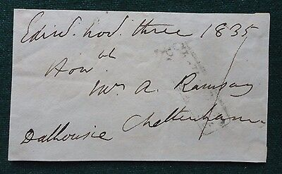 Signed Free Front Pre Stamp British Politician George Ramsay 9th Earl Dalhousie