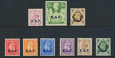 Eaf British Somalia 1943-46 Set,  Vf Lh Og Sg#s1-9 (See Below)