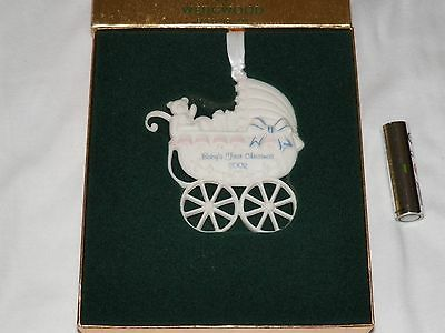 Vintage Wedgwood 2002 Baby's First Christmas Tree Ornament Nib