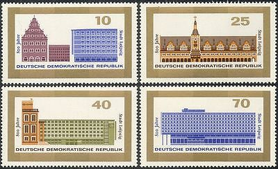 Germany 1965 Leipzig/Town Hall/Clock Tower/Buildings/Architecture 4v set n43607