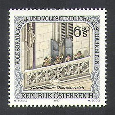 Austria 1997 Music/Customs/People/Brass Band/Tower/Buildings/Trumpet 1v (n38069)