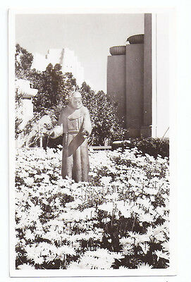 1939 Golden Gate Int'l Expo/GGIE - Statue of St Francis of Assisi, RPPC Postcard