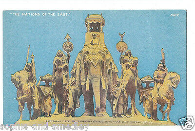 1915 Pan Pacific Expo PPIE Colorized Postcard - The Nations of the East, #5017