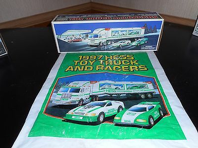 Hess Truck 1997 Truck And Racers Never Removed With Bag