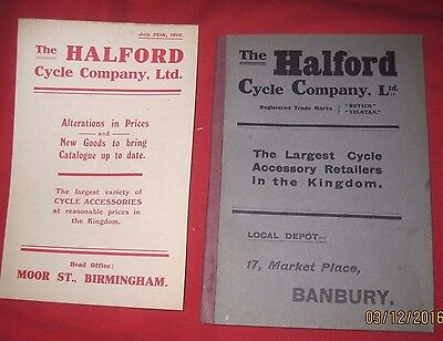 The Halford Cycle Company Ltd. 1910  Catalogue   112 Pages