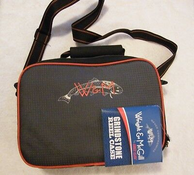 NWT New WRIGHT & McGILL Eagle Claw GRINDSTONE Fishing Travel PADDED REEL CASE