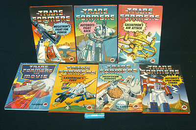 Vintage Transformers Cartoon Books Seven Ladybird Books All In Great Condition
