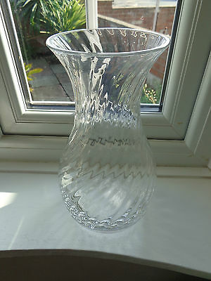 Dartington Large Frank Thrower Ripple Vase Ten Inches